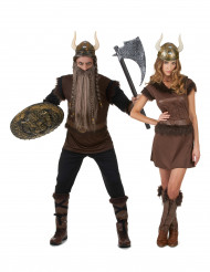 Disfarce de casal Viking adulto
