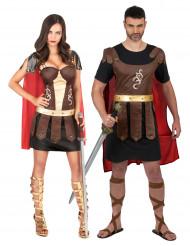 Disfarce de casal gladiadores romanos adulto