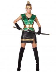 Disfarce ninja verde mulher