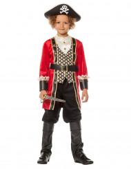 Disfarce capitão pirata luxo menino