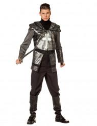 Disfarce cavaleiro com armadura homem