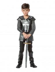 Disfarce cavaleiro com armadura menino