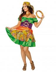 Disfarce cigana colorida mulher