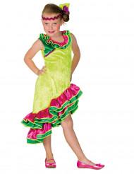 Disfarce dançarina de rumba amarelo menina