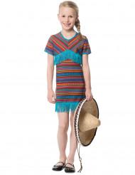 Disfarce vestido mexicano azul menina