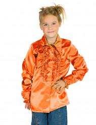 Camisa cor de laranja com folhos criança