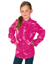 Camisa cor-de-rosa com folhos criança