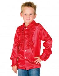 Camisa vermelha com folhos criança