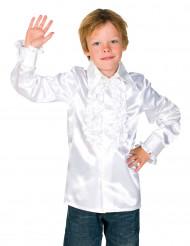 Camisa branca com folhos criança
