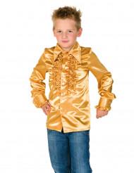 Camisa dourada com folhos criança