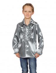Camisa prateada com folhos criança