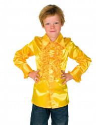 Camisa amarela com folhos criança