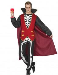 Disfarce vampiro esqueleto homem Halloween
