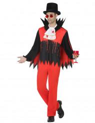 Disfarce vampiro sangrento homem Halloween