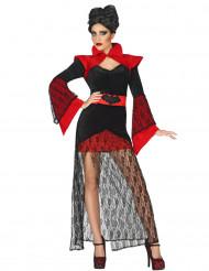 Disfarce vampira com renda mulher Halloween