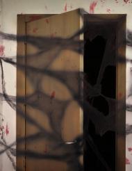 Decoração teia de aranha preta com aranhas Halloween 20 g