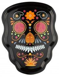 Prato esqueleto colorido Dia de los muertos