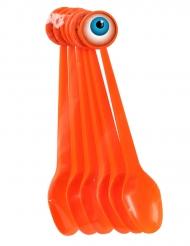 6 colheres em plástico Halloween 17 cm