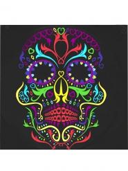 20 Guardanapos de papel esqueleto colorido Dia de los muertos