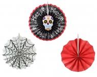 3 Decorações rosetas Dia de los muertos