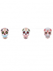Grinalda esqueleto colorido Dia de los muertos