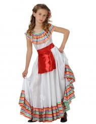 Disfarce mexicana menina