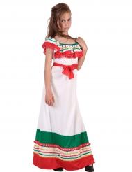Disfarce vestido comprido mexicano menina