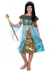 Disfarce egípcia azul menina