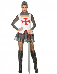 Disfarce cavaleira medieval mulher