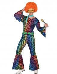 Disfarce disco leopardo colorido homem