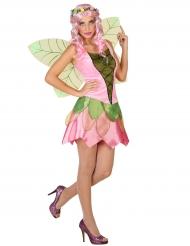 Disfarce fada cor-de-rosa da Primavera mulher