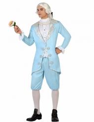 Disfarce príncipe barroco azul homem