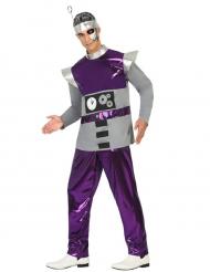 Disfarce robô lilás homem