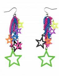 Brincos estrelas coloridas adulto