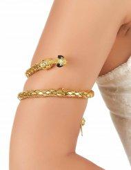 Bracelete de braço serpente dourada - adulto