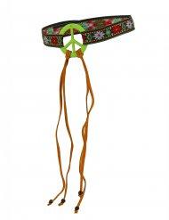 Bandana verde hippie da paz - adulto