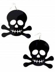 Brincos piratas  gigantes pretos - adulto