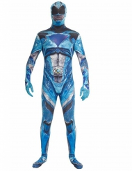 Disfarce macacão azul Power Rangers™ deluxo adulto Morphsuits™