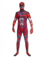 Disfarce macacão vermelho Power Rangers™ deluxo adulto Morphsuits™