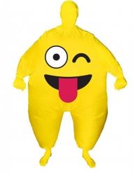 Disfarce insuflável cara engraçada adulto Morphsuits™