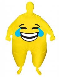Disfarce insuflável cara alegre adulto Morphsuits™