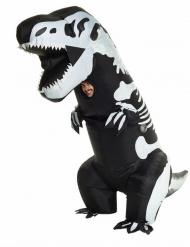 Disfarce insuflável esqueleto T-rex adulto Morphsuits™