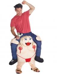 Disfarce homem as costas de uma dançarina adulto Morphsuits™
