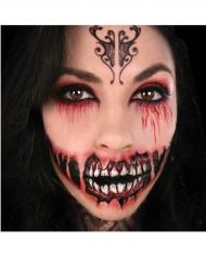 Tatuagem temporária grande sorriso demoníaco adulto
