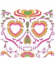 Tatuagem temporária rosto para mulher Dia dos Mortos