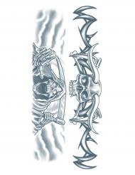 Tatuagens efémeras corpo segadeiro adulto