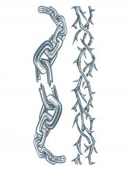 Tatuagem efémera corpo e corrente adulto