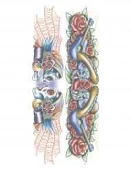 Tatuagem efémera corpo esqueleto adulto