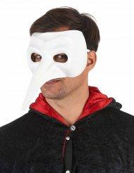 Máscara nariz longo branco luxo - adulto