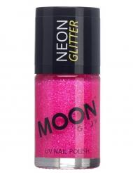 Verniz cor-de-rosa fosforescente com brilhantes 15 ml Moonglow © adulto